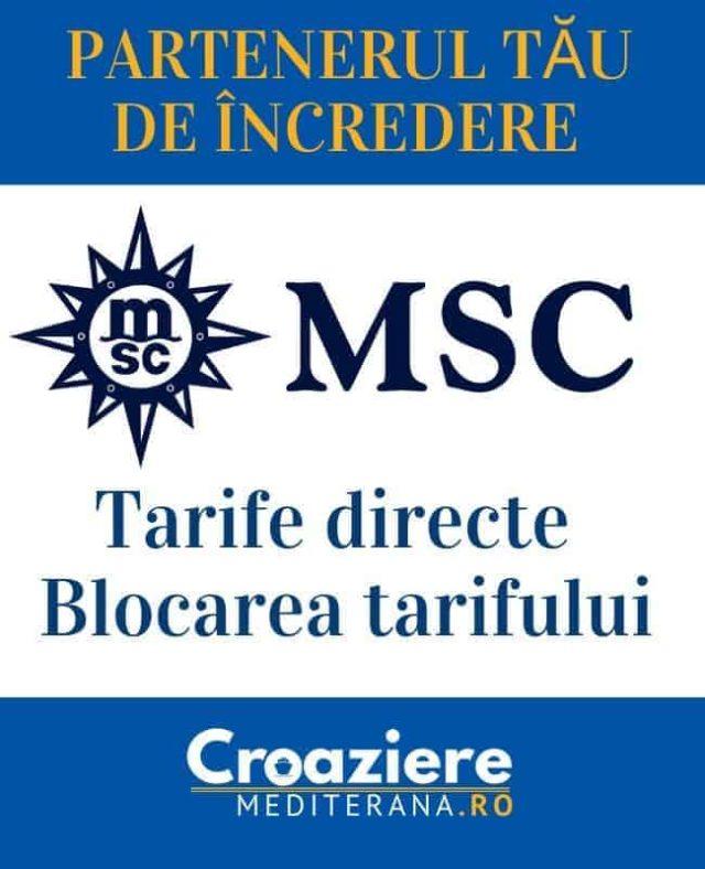 rezervati croazierele MSC