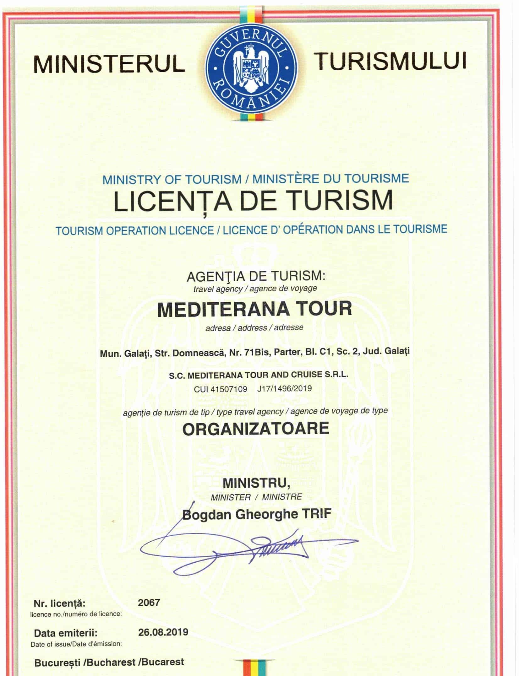 licenta turism meditarana tour