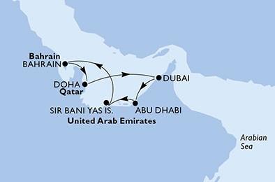 croaziera msc 2021, emiratele arabe unite, croaziera dubai 2021